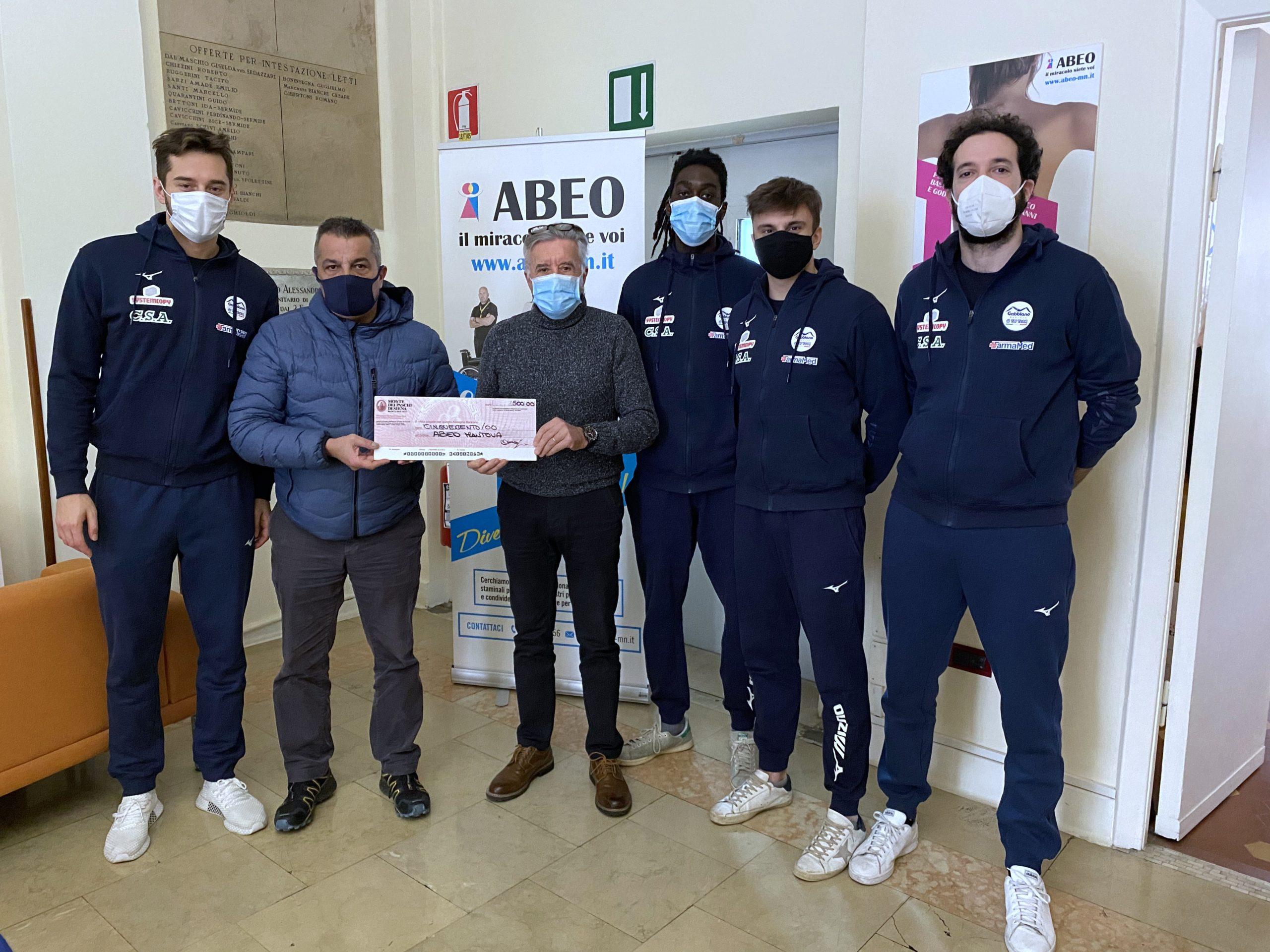 Donazione Abeo Mantova Artoni Sasdelli Pedroni Amouah Fattori